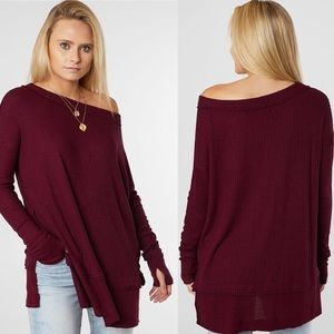 NWT Free People Fig Sorbet North Shore Thermal